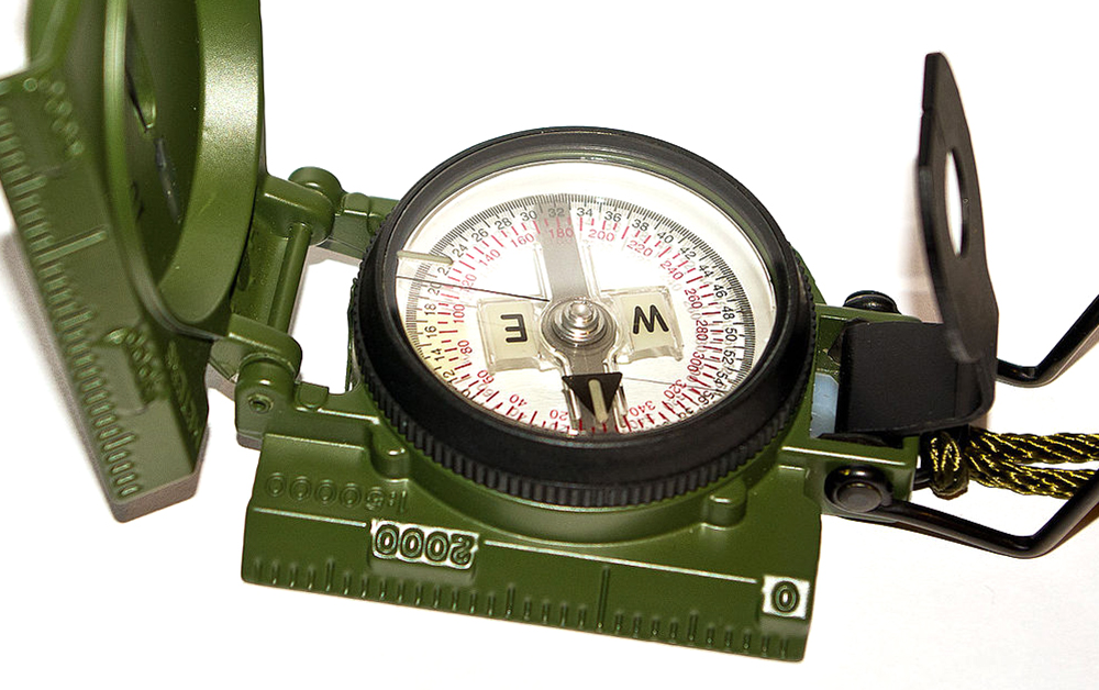 The U.S. military M-1950 lensatic compass shown in this video is still in  use 3f7a9f3152b4