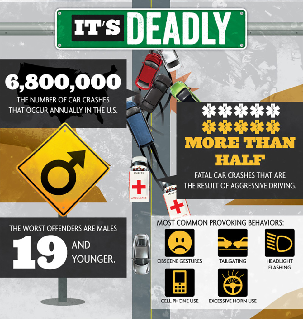 Road rage driving car truck vehicle infographic 3