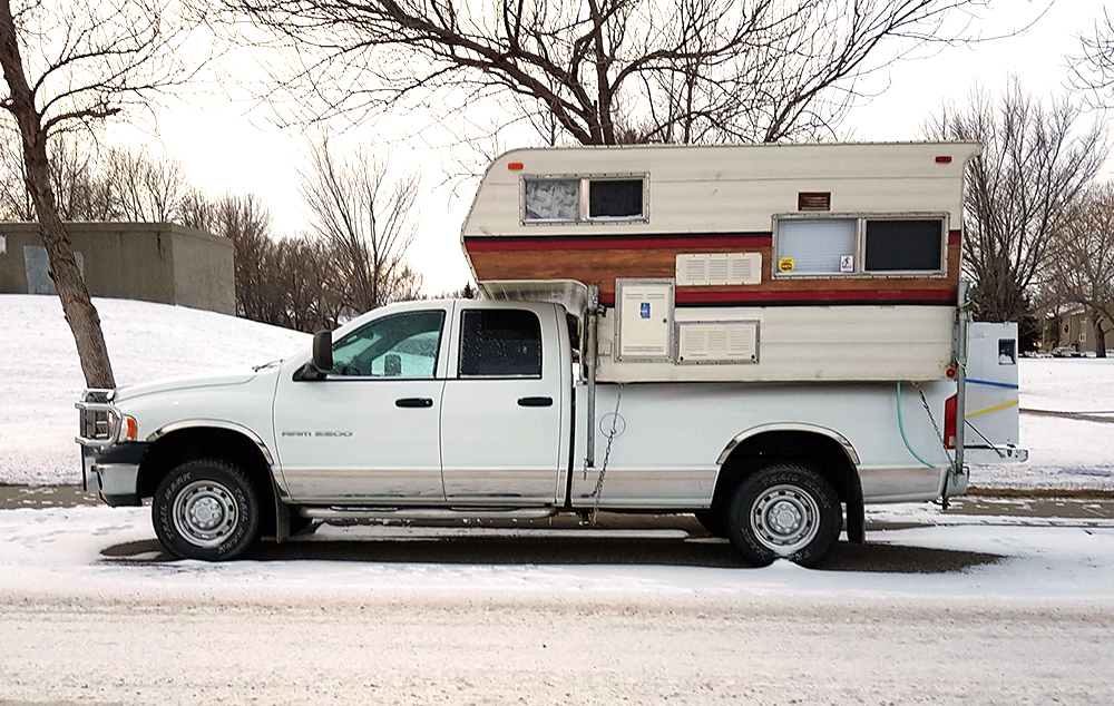 Truck camper vehicle bugout RV 1