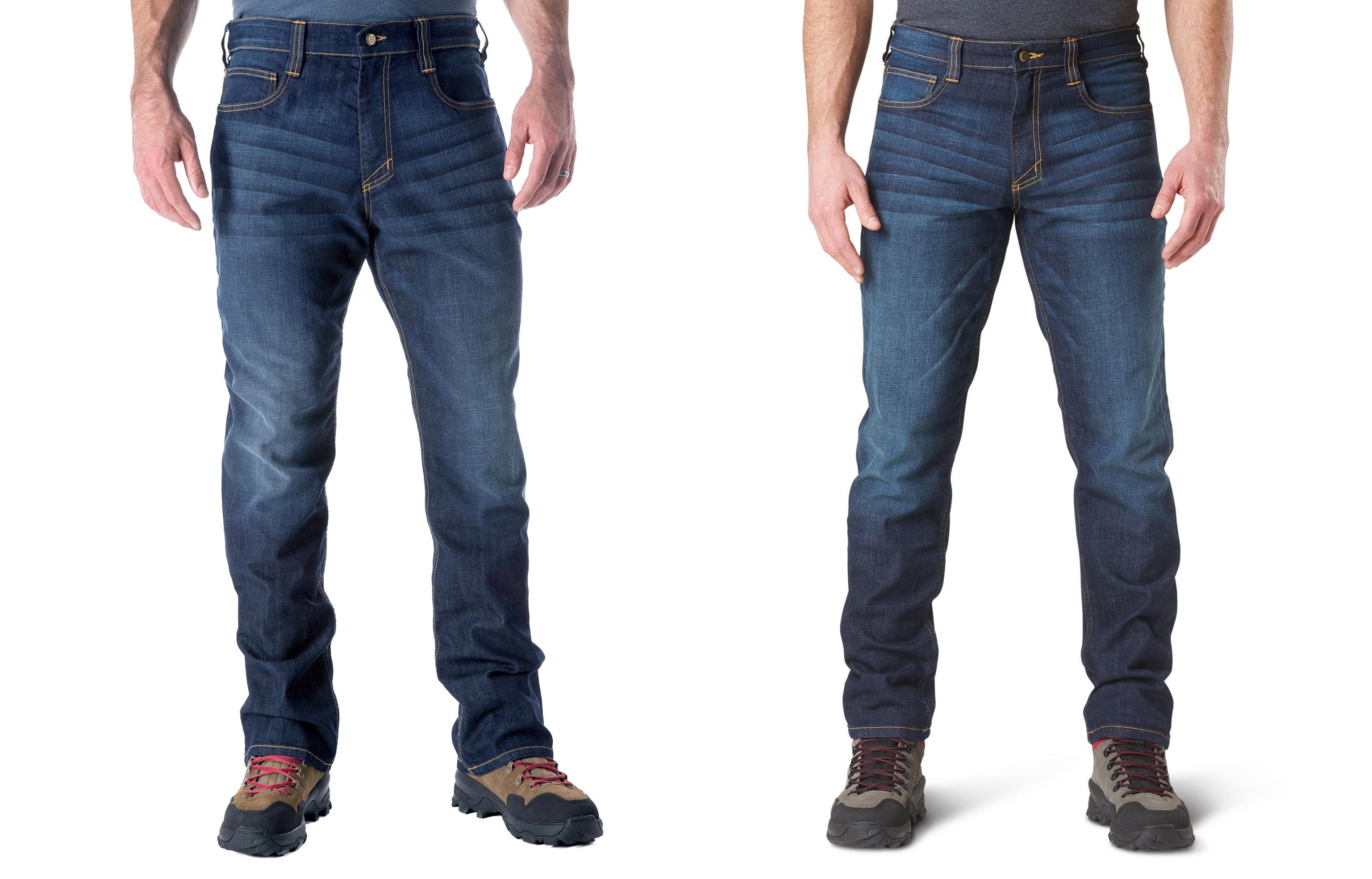 c4369c25 Left: straight-fit jeans in Dark Wash Indigo. Right: the same jeans