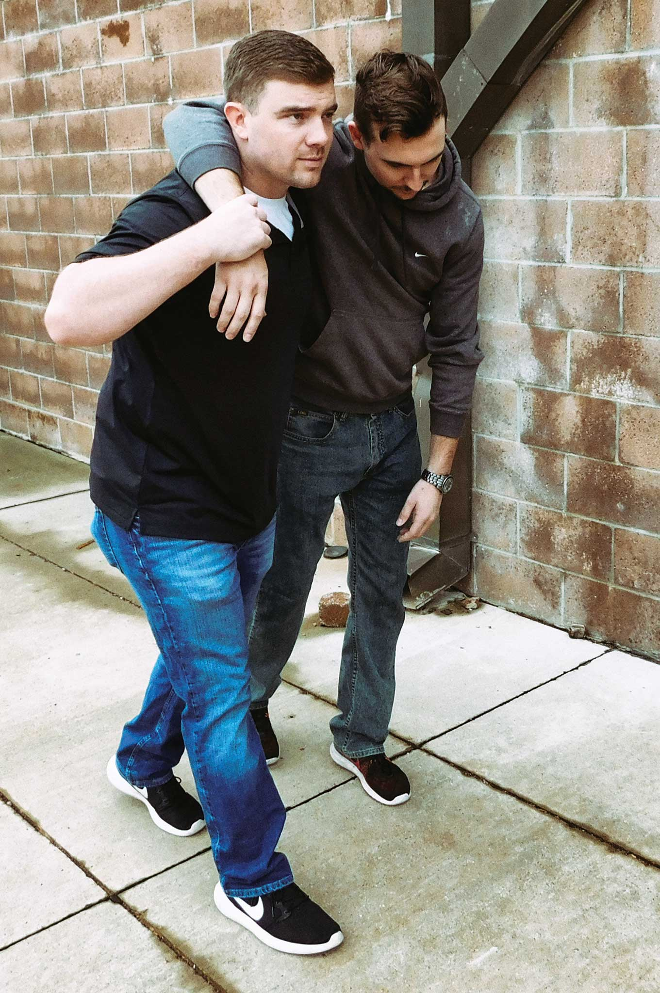 Although the one-person walk assist is one of the easiest methods of helping to carry an injured person, never attempt to move anyone you think may have neck or spinal injuries without proper training.
