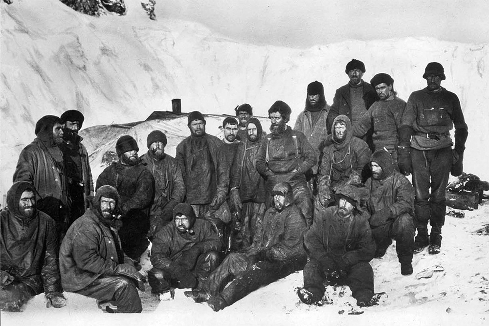 The men who stayed behind on Elephant Island. Photo: The James Caird Society