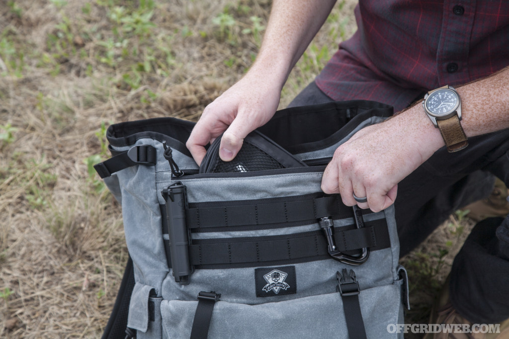 Grey Ghost Gypsy backpack review waxed canvas gray man urban edc 21