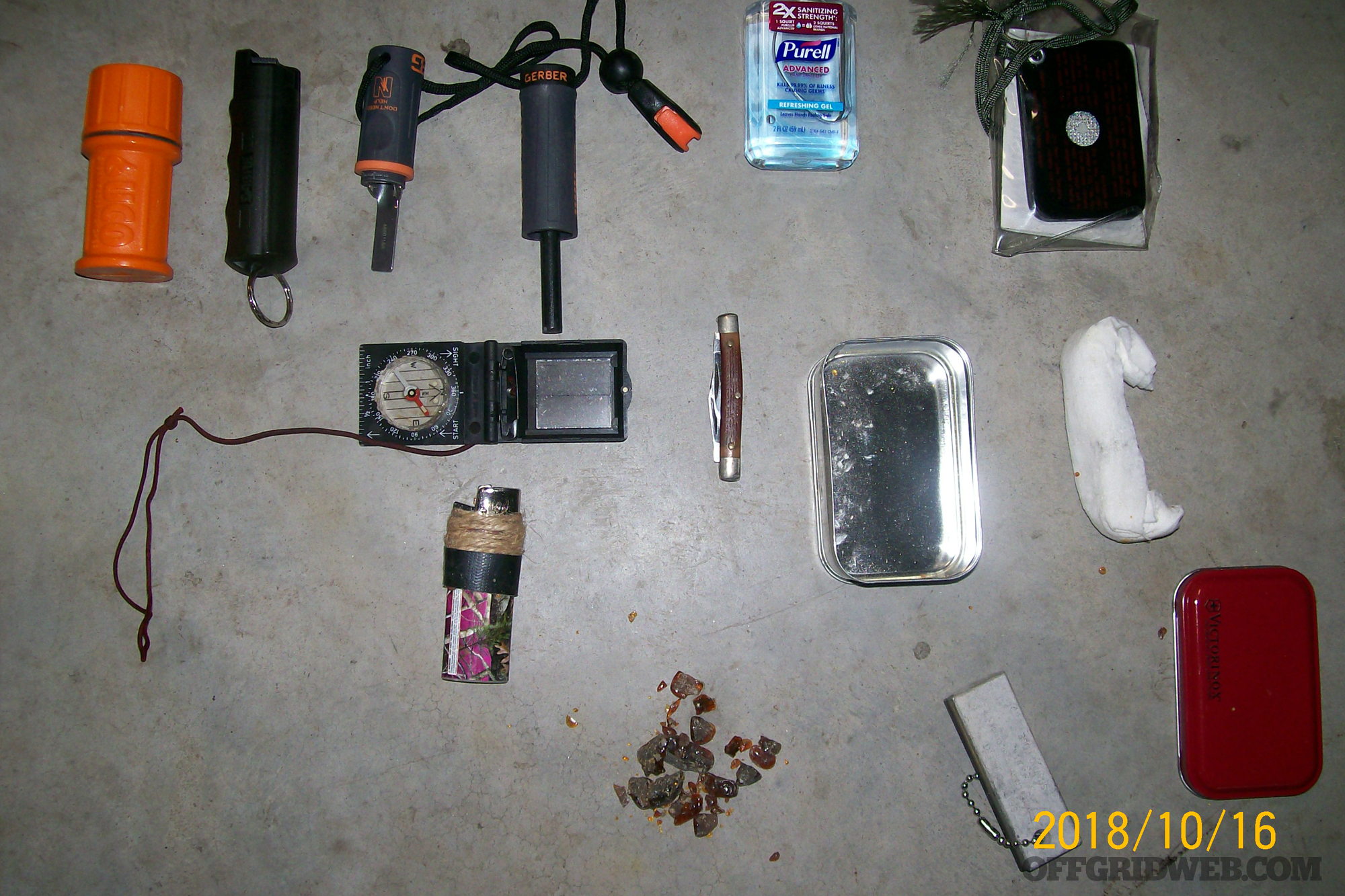 Russ Hobgood go bag loadout survival gear bug out backpack shtf hiking 5