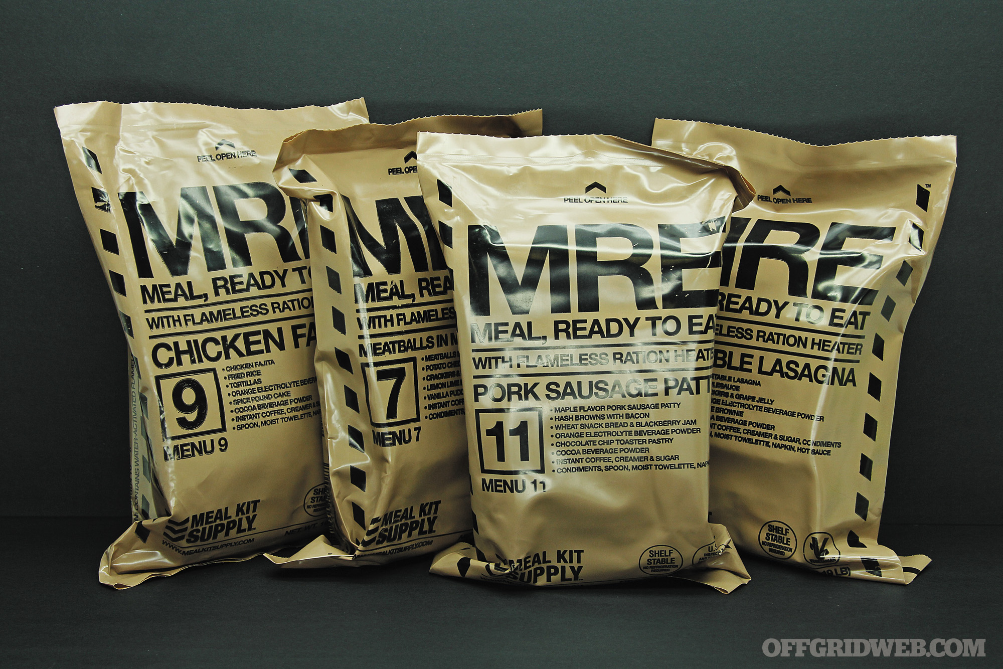 MRE meal ready to eat food ration survival prepper shtf 14